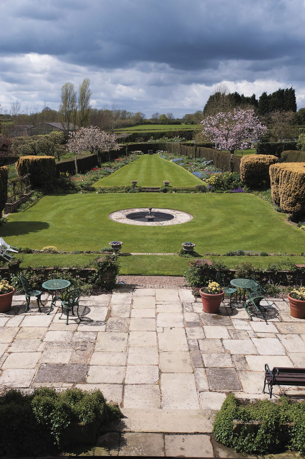 the view of the formal lawn