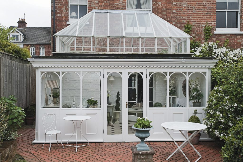 Dee designed the conservatory 18 years ago to complement the house