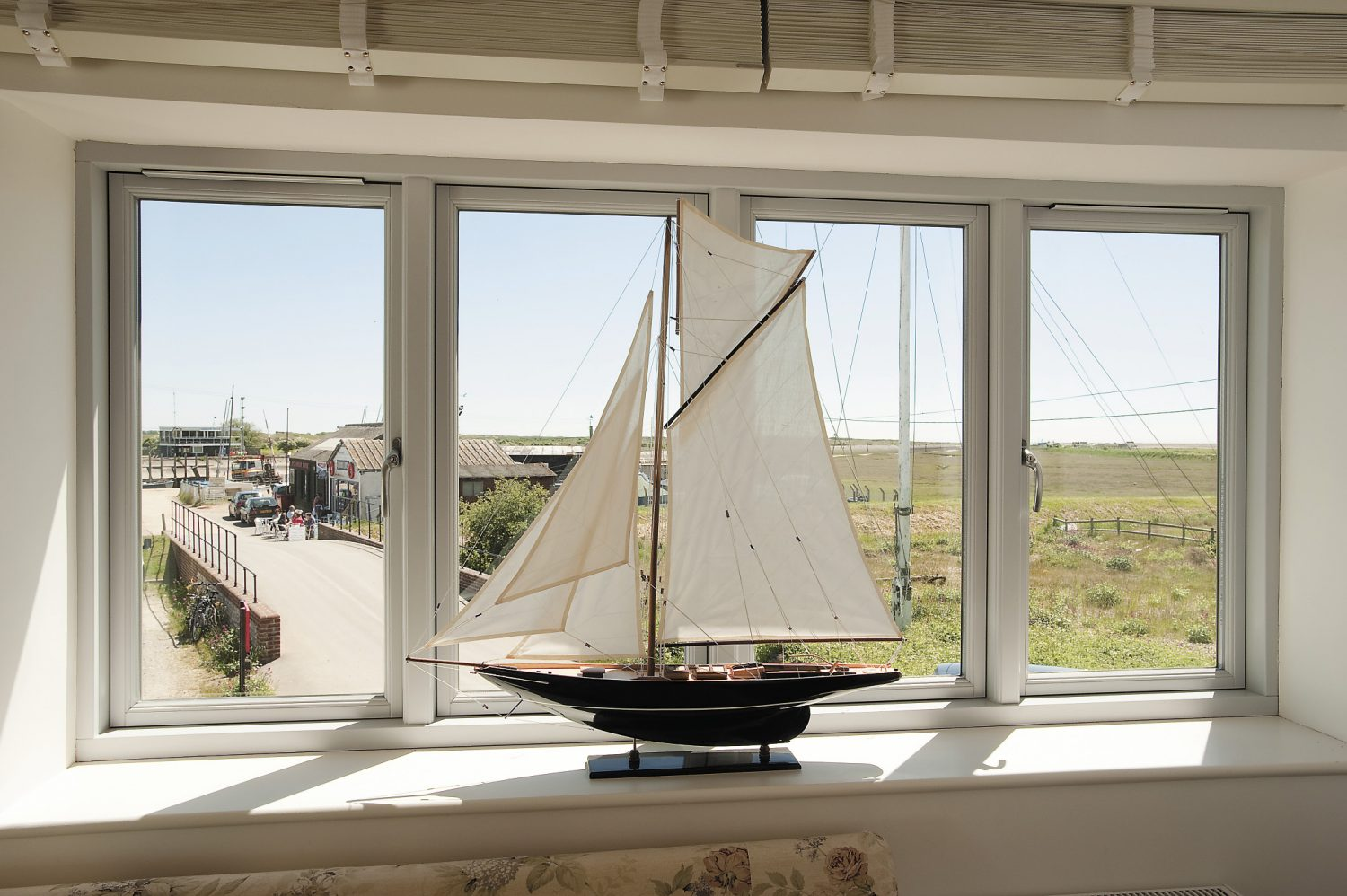 The windows were bespoke made under strict ecological guidelines in Denmark to withstand the coastal weather