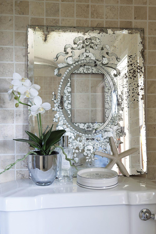 A serene corner of the upstairs bathroom