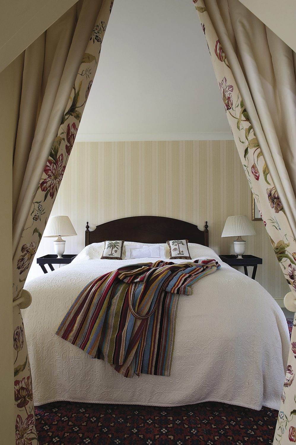 the view from the wonderfully private and cosy en suite, a couple of steps down from the guest bedroom