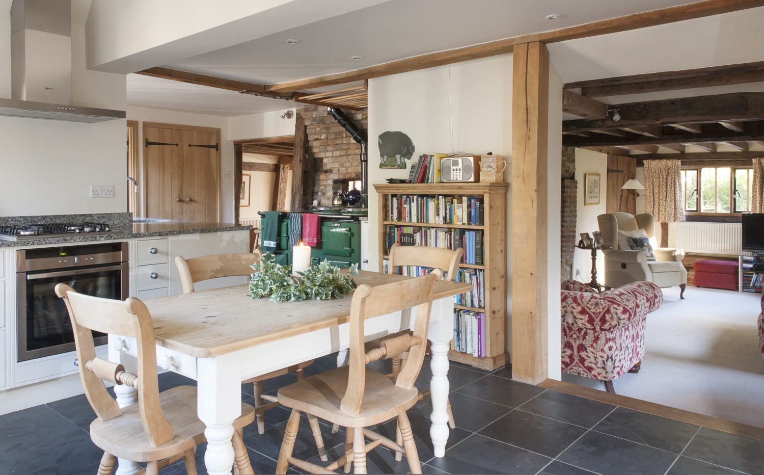 The spacious kitchen was designed and installed by Schofield & Crafter