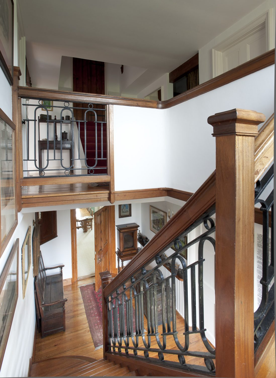 Upstairs, Jenny and David have combined space with a wide landing and corridor with intimate and unexpected twists and turns