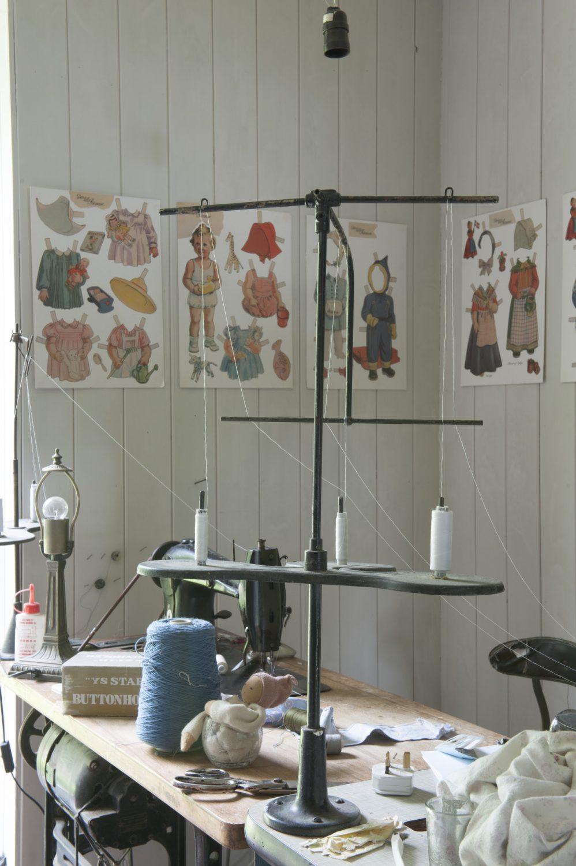 A corner of Susan's workroom