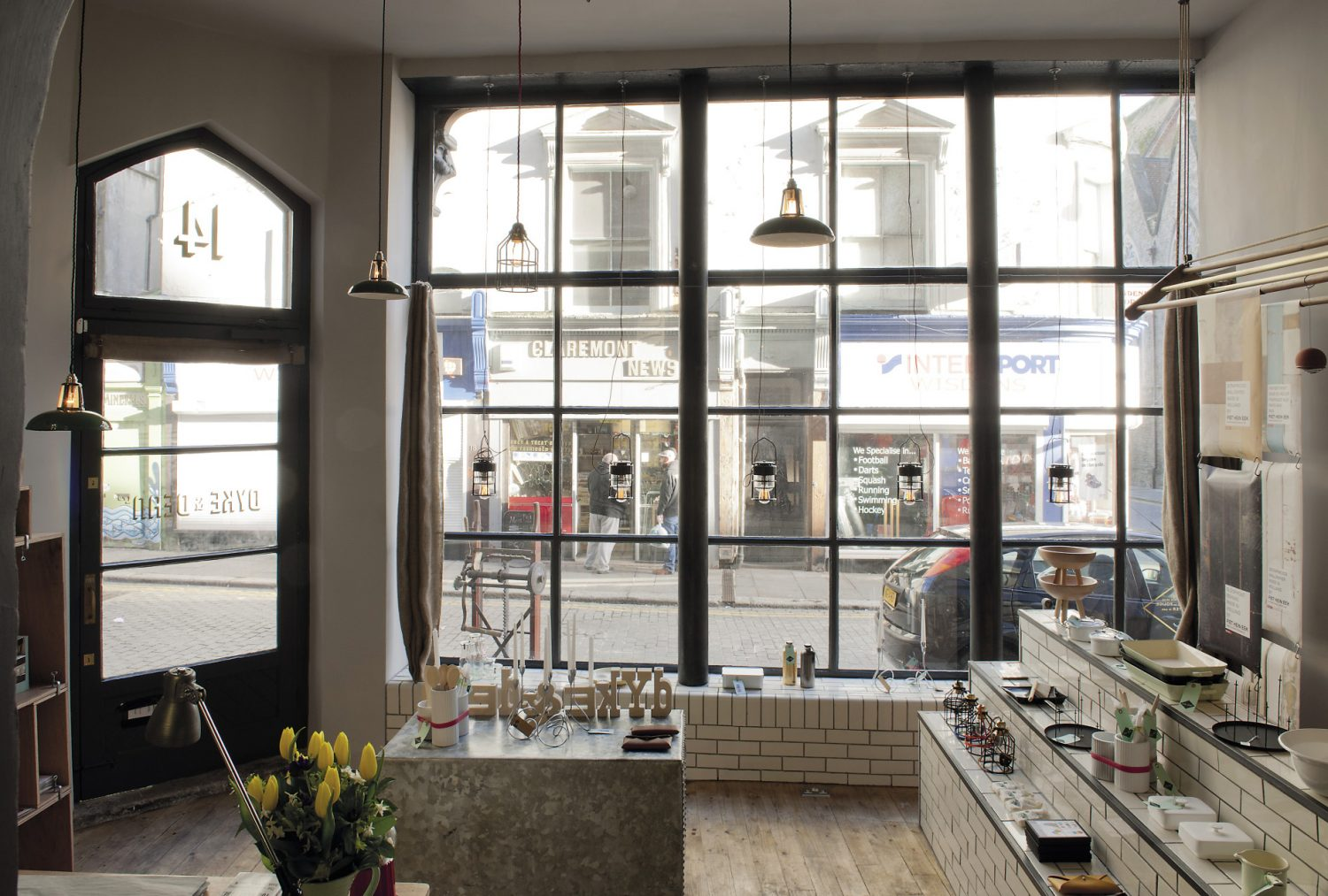 Lorna and Bryan's son Ed's homeware and interiors business, Dyke & Dean, occupies the street level of the building
