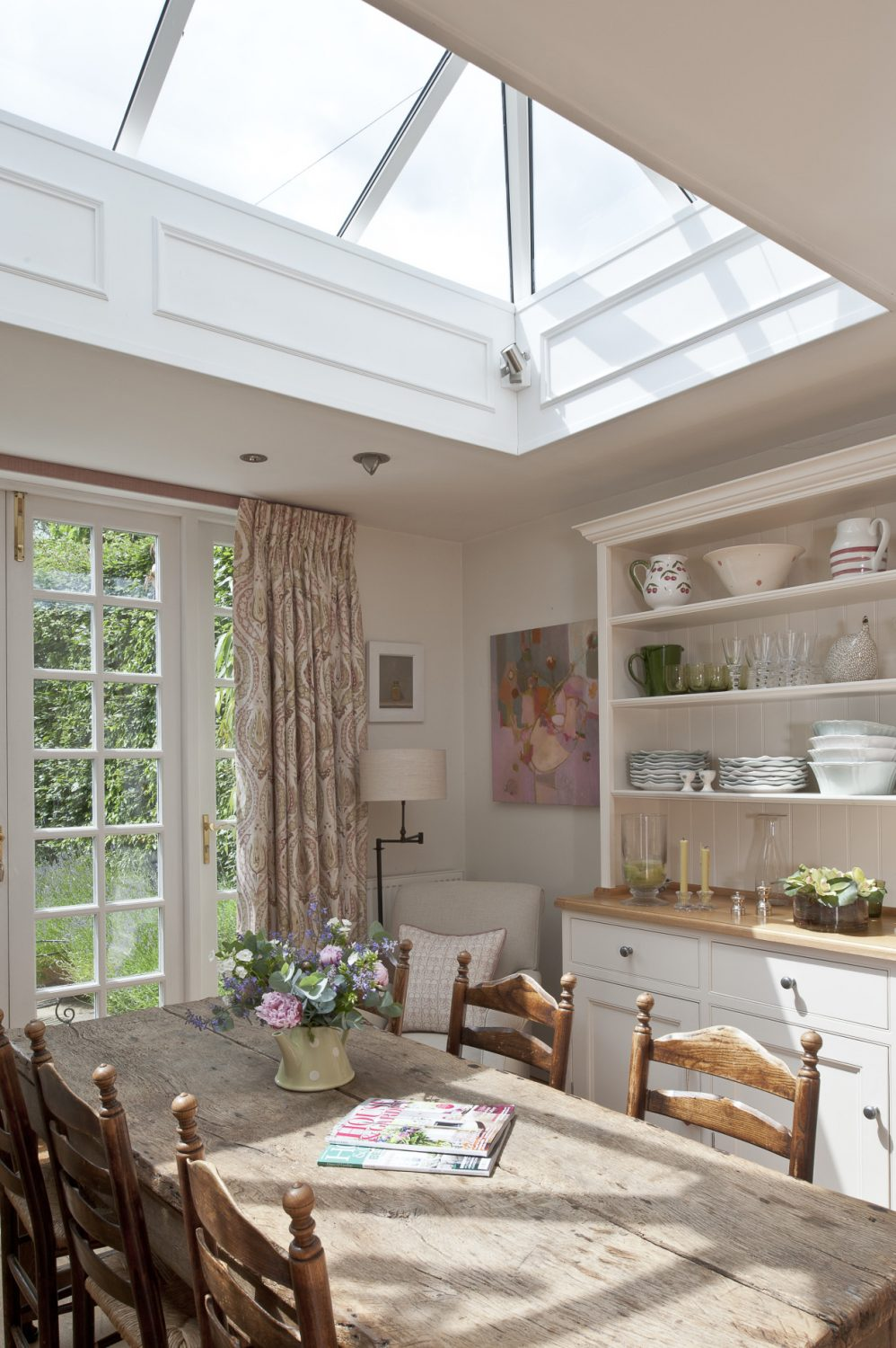 The kitchen table was destined for a home in Corfu but now resides in an ideal spot in Kent