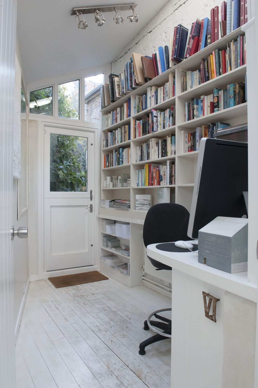 A door in Jessica's office leads straight out into the garden