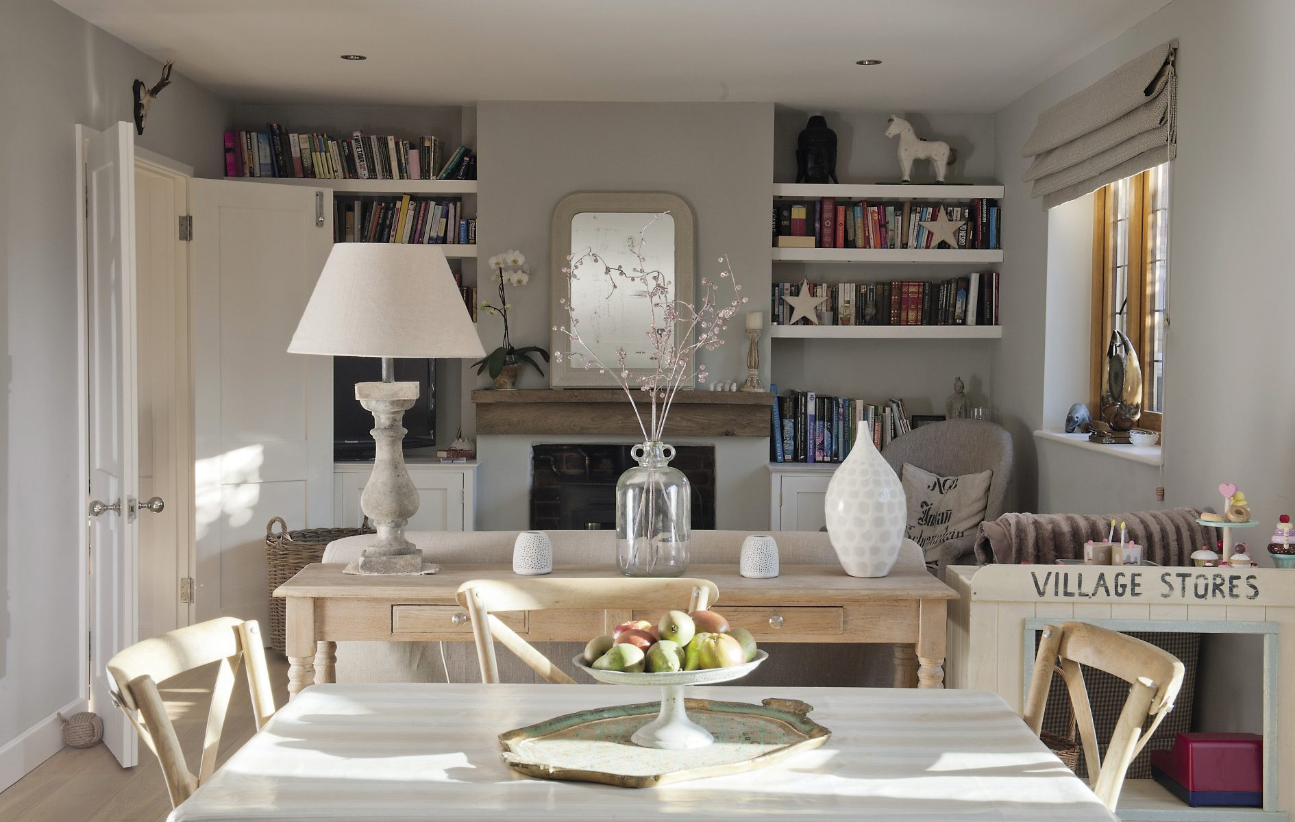 The spacious open plan sitting, dining and kitchen area