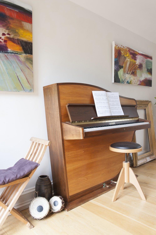 a wonderful 60s Dutch Rippen upright piano