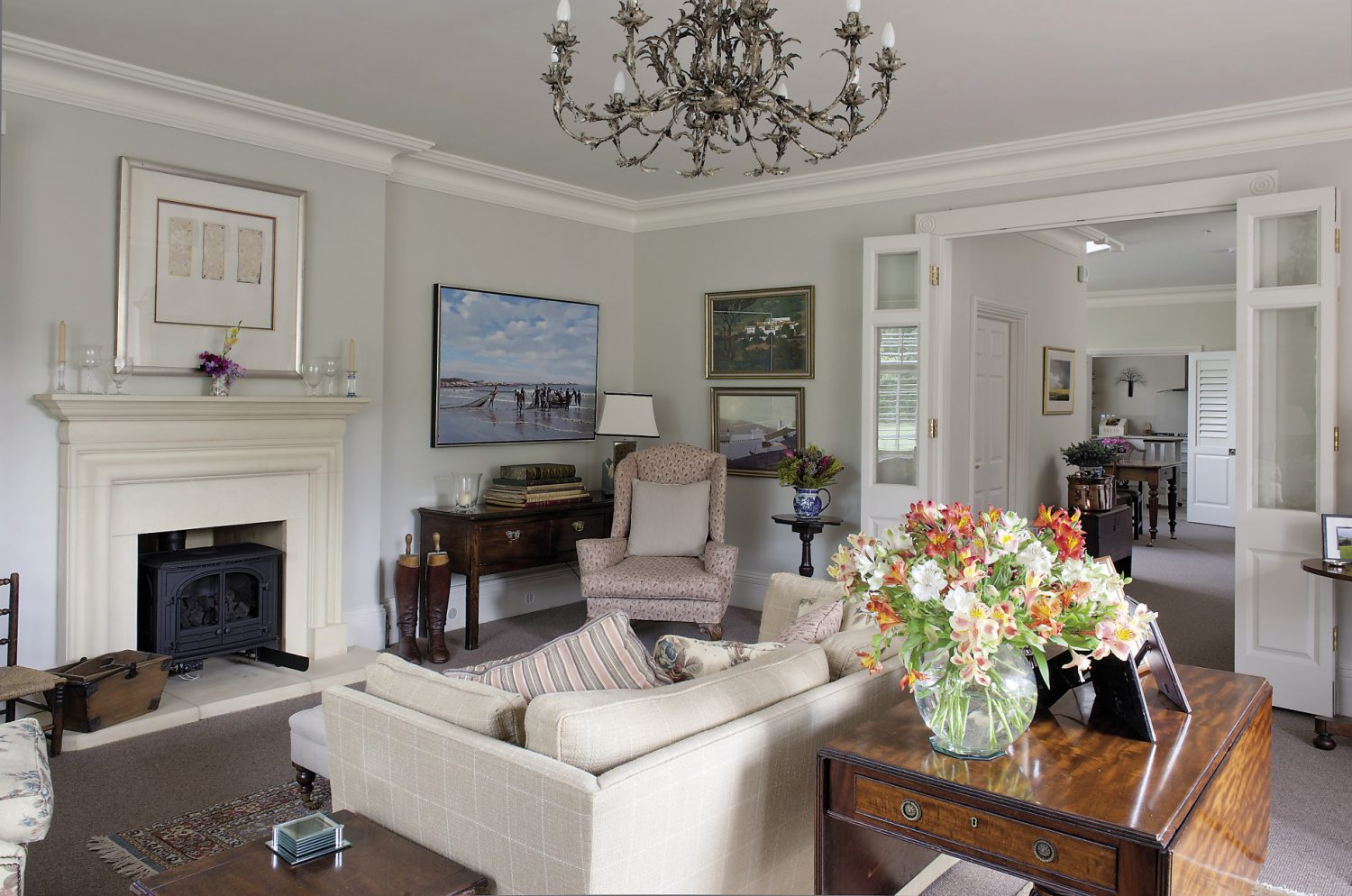 By subtly repeating some of the colours and patterns around the drawing room, Alexis and her mother have created a harmonious scheme without it looking too obviously 'designed'