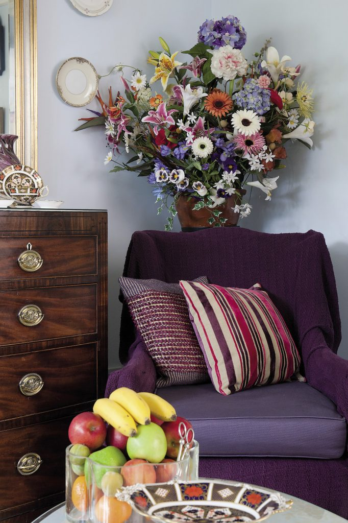 Erica's skills as an interior designer and eclectic taste have allowed her to seamlessly combine inherited family gems and charity shop finds with pops of colour and a smattering of sequins and sparkle