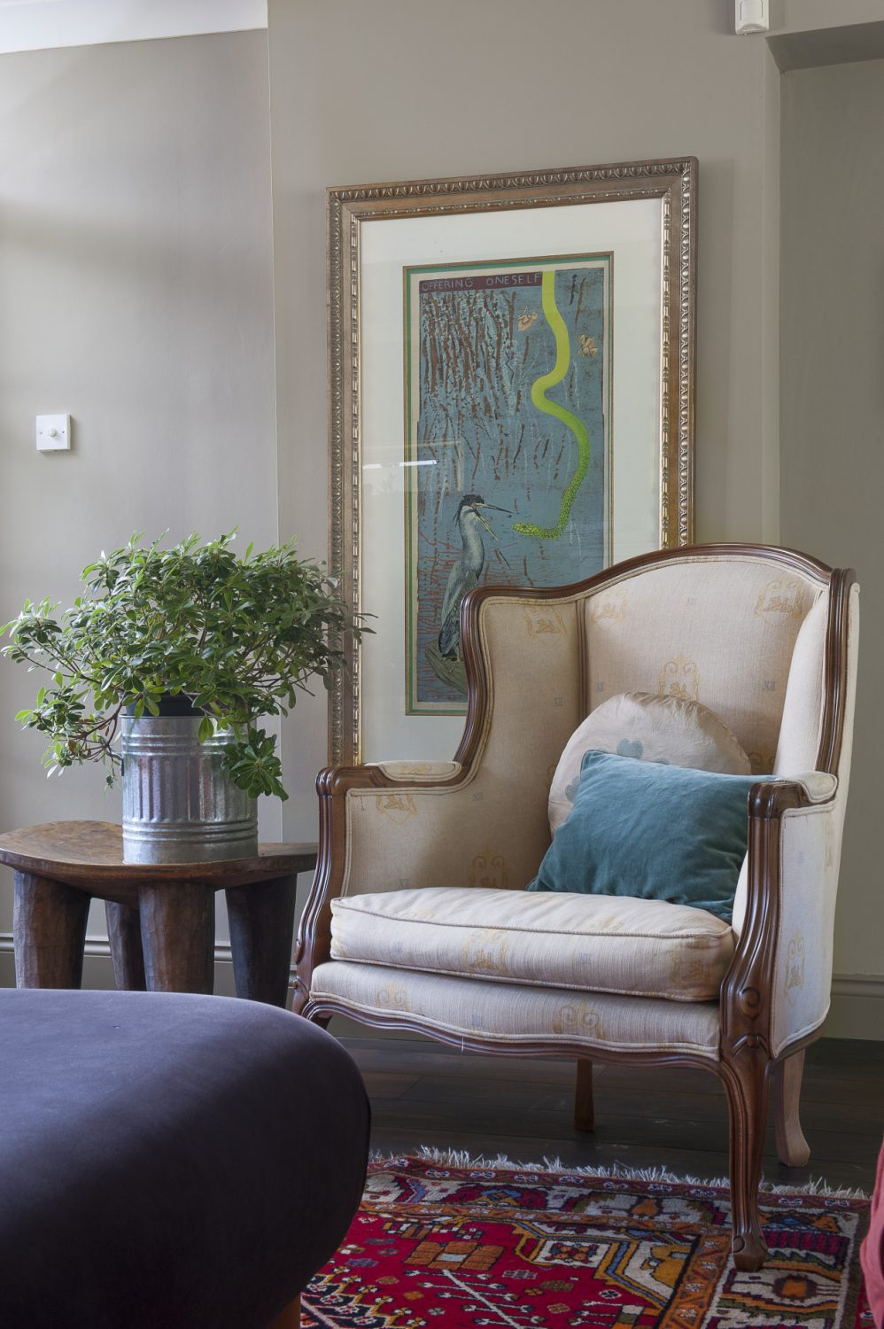 Favourite artworks are beautifully framed throughout the house