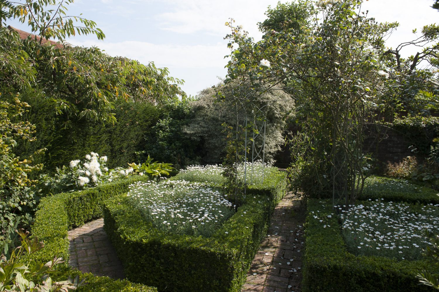 I suppose I've been influenced by places like Sissinghurst – and I have a little white garden