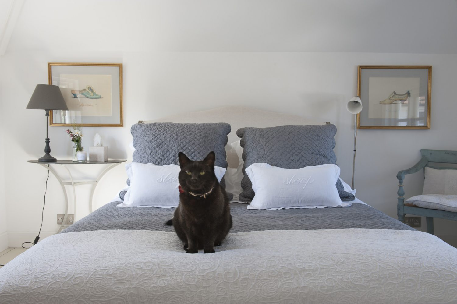 Immaculately dressed beds from Loaf feature in both of the property's bedrooms