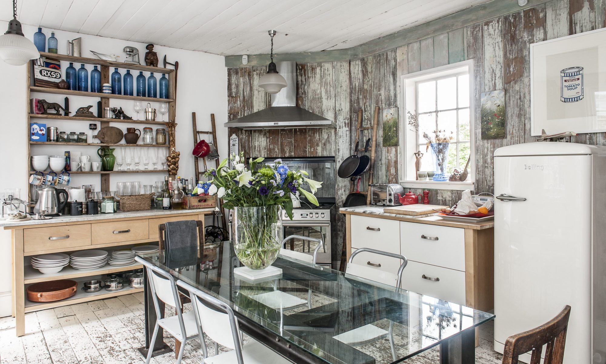 Rob's home is packed with interesting finds including a Philippe Starck coat stand and a kitchen table which once belonged to the chef Joël Robuchon