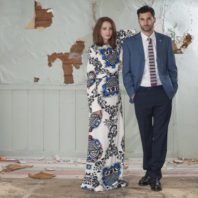MSGM dress, price on request, Alexandra Boutique, Tunbridge Wells 01892 529959 www.alexandra-boutique.co.uk; Digel jacket, £225, trousers, £95, Giordano tailored white shirt, £69.50,Van Buck tie, £45, Church loafers, £320, County Clothes, Tenterden 01580 765159 / Canterbury 01227 765294 / Reigate 01737 249224 www.countyclothesmenswear.co.uk