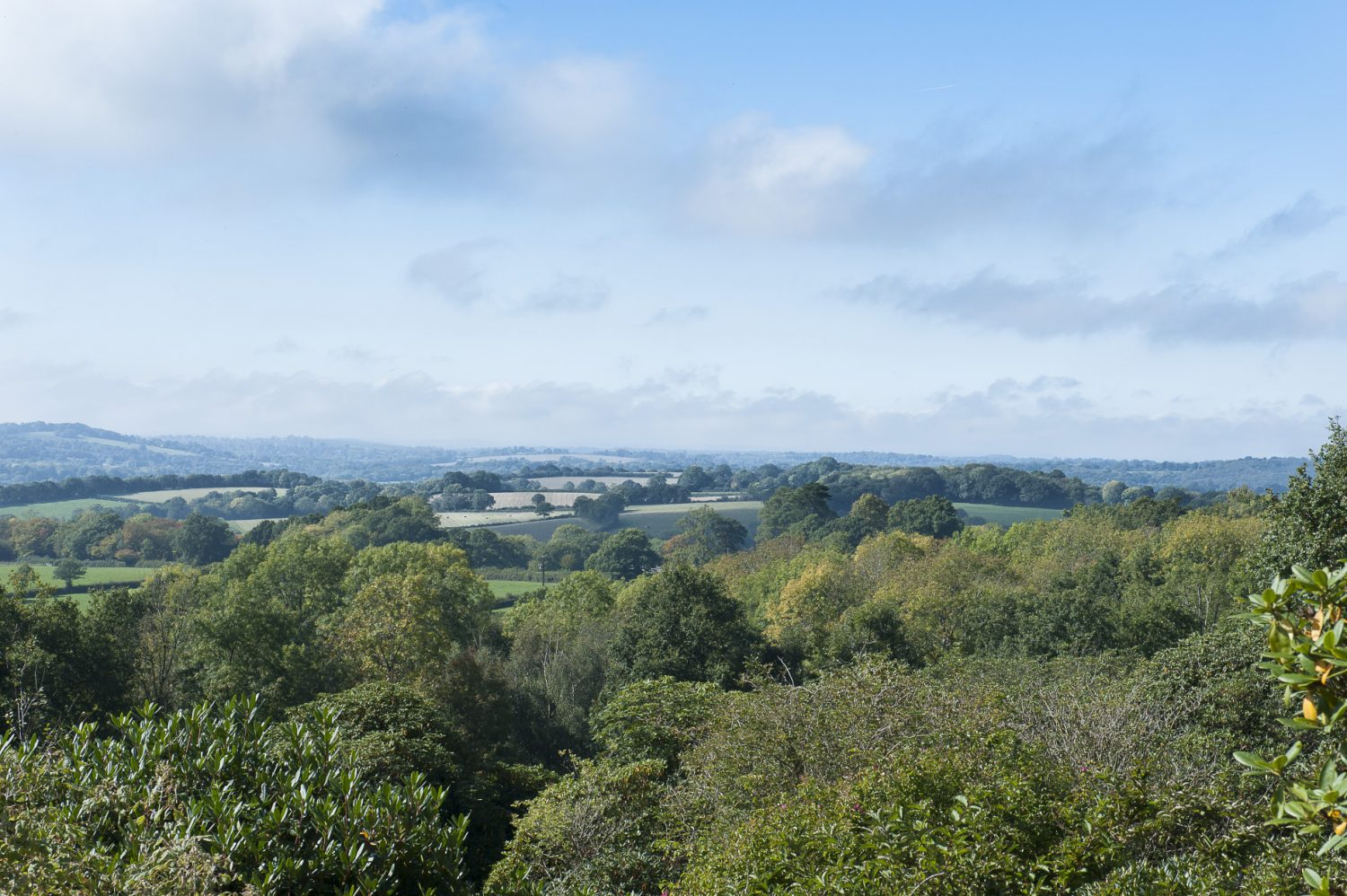 The cottage features breathtaking views over the surrounding countryside and across the idyllic garden