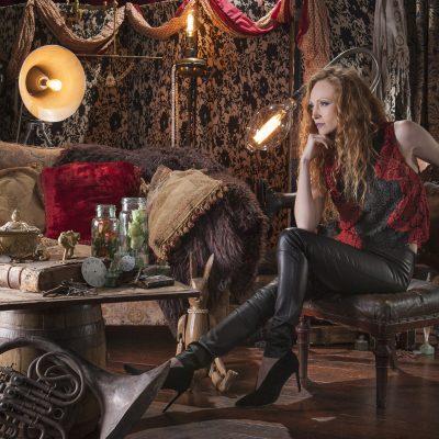 Alice & Olivia red and black top, £330, Malene Birger leather trousers, £650, Diane von Furstenburg shoes, £275, The Clever Dresser, Sevenoaks 01732 453002 facebook.com/CleverDresser