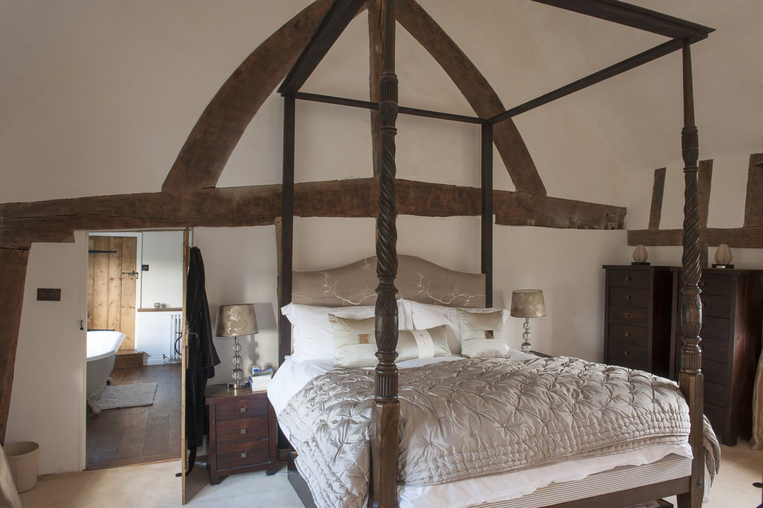 The master bedroom is stunning with star billing going to a vast and magnificent four posterThe master bedroom is stunning with star billing going to a vast and magnificent four poster