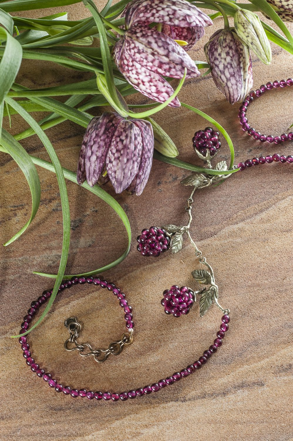 Michael Michaud Raspberry beaded necklace, £163, Cornell, Maidstone 01622 753150 www.cornelljewellers.co.uk