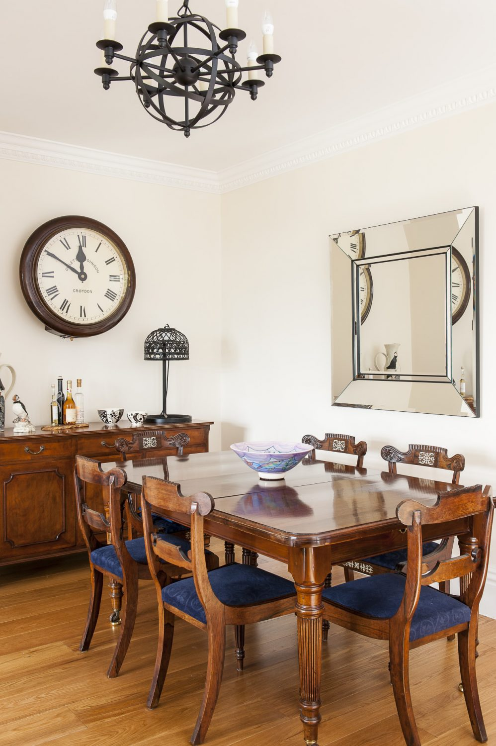 The couple were pleased to find that much of their old furniture fitted into the apartment perfectly