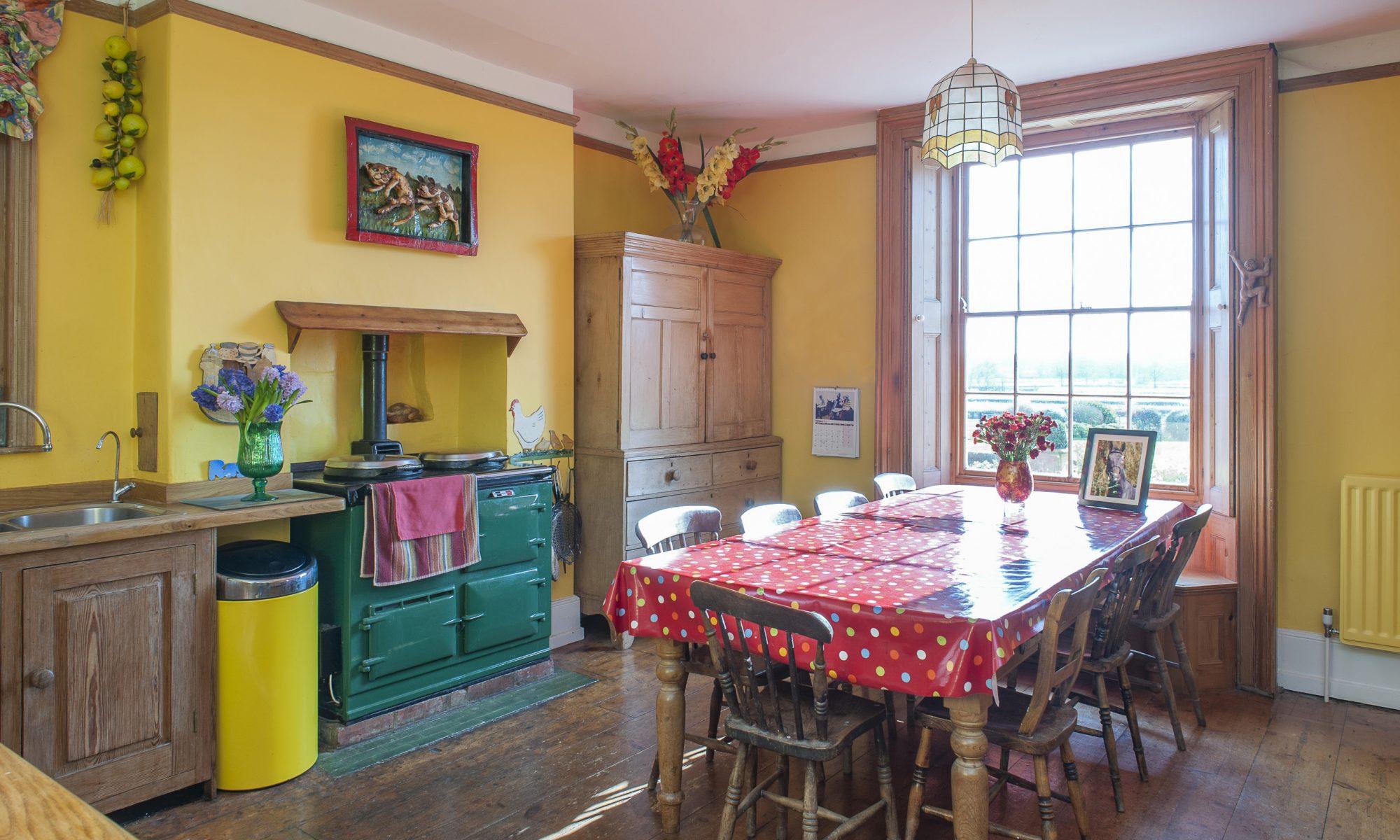 Georgian Farmhouse Transformed Into Colourful Family Home