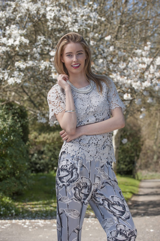Second Female lace blouse, £78, Arggido trousers, £70, Second Female necklace, £45, Odyl, Cranbrook 01580 714907 www.odyl.co.uk; bracelet, Amy's own