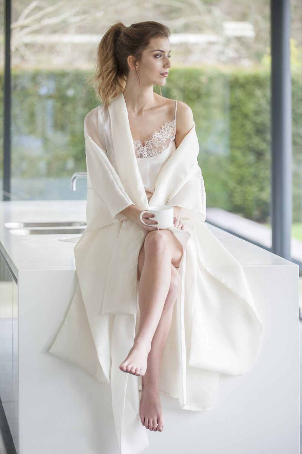 Silk cami, from £120, silk kimono, from £180, The Robing Room, Ashford 01233 224985 therobingroom.co.uk