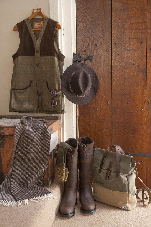 Shoffel waistcoat, £279.95, Pennine socks, £17.95, Chris Potter Country Sports, Tunbridge Wells 01892 522208 www.gun.co.uk; brown wool scarf, £35, Romney Marsh Wools www.wealdenfairs.com/romneymarshwools; Brakeburn canvas bag, £33.95, Toggi boots, £129.95, Joules feathered hat, £39.95, Charity Farm Countrystore, Cranbrook 01580 713189 www.charityfarmcountrystore.co.uk; Vega frames in 'Blue Turtle' 2016, £299, RockOptika www.wealdenfairs.com/rockoptika