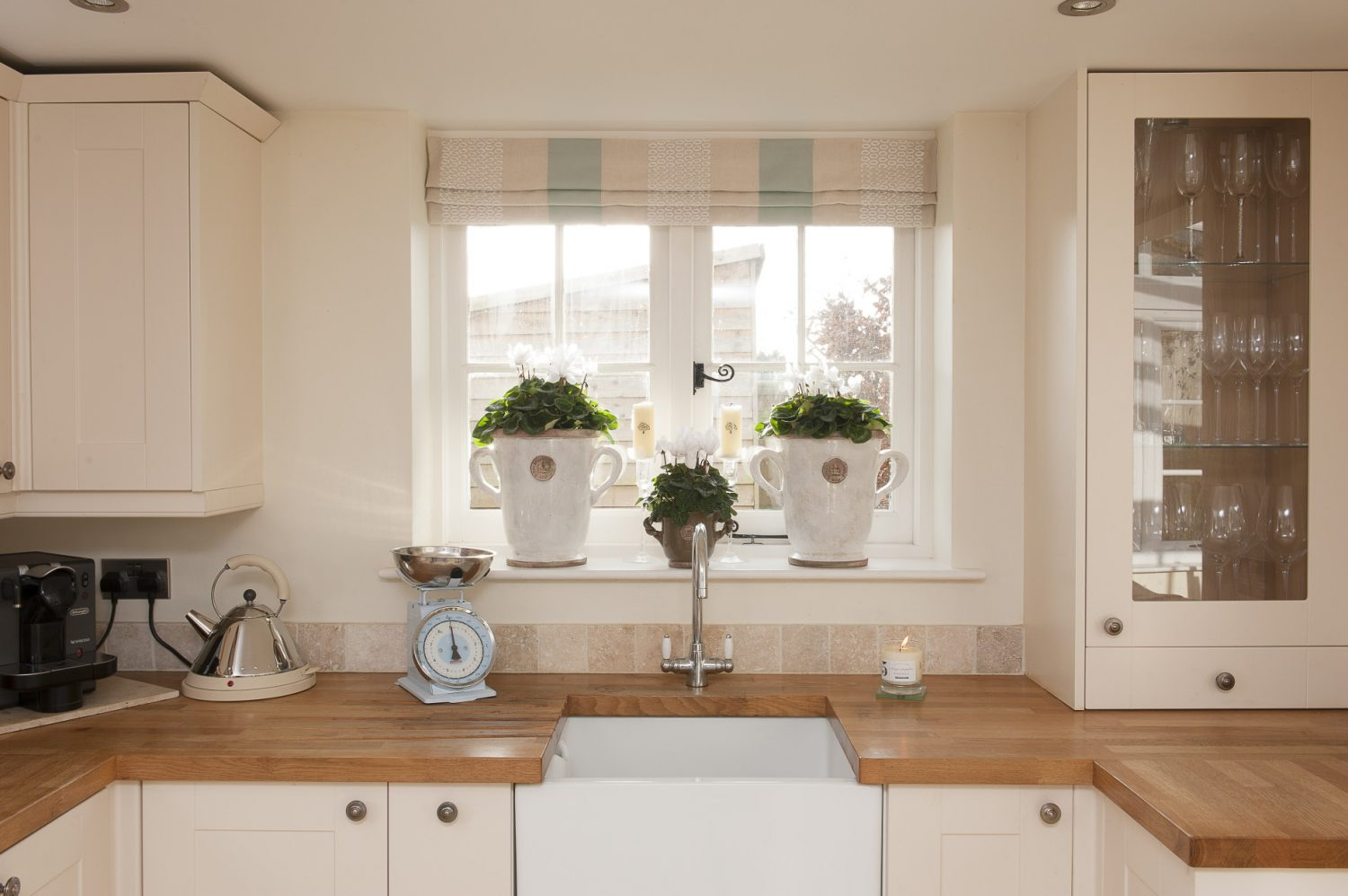 """The kitchen was next door in what is now a utility room. We moved it in here and took down the wall into the conservatory."""