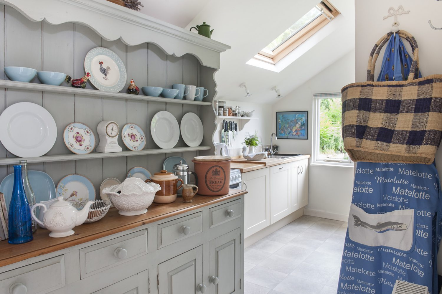 It has been beautifully kitted out with pride of place going to a dresser from Mark Maynard which Patricia has painted in F&B Light Blue