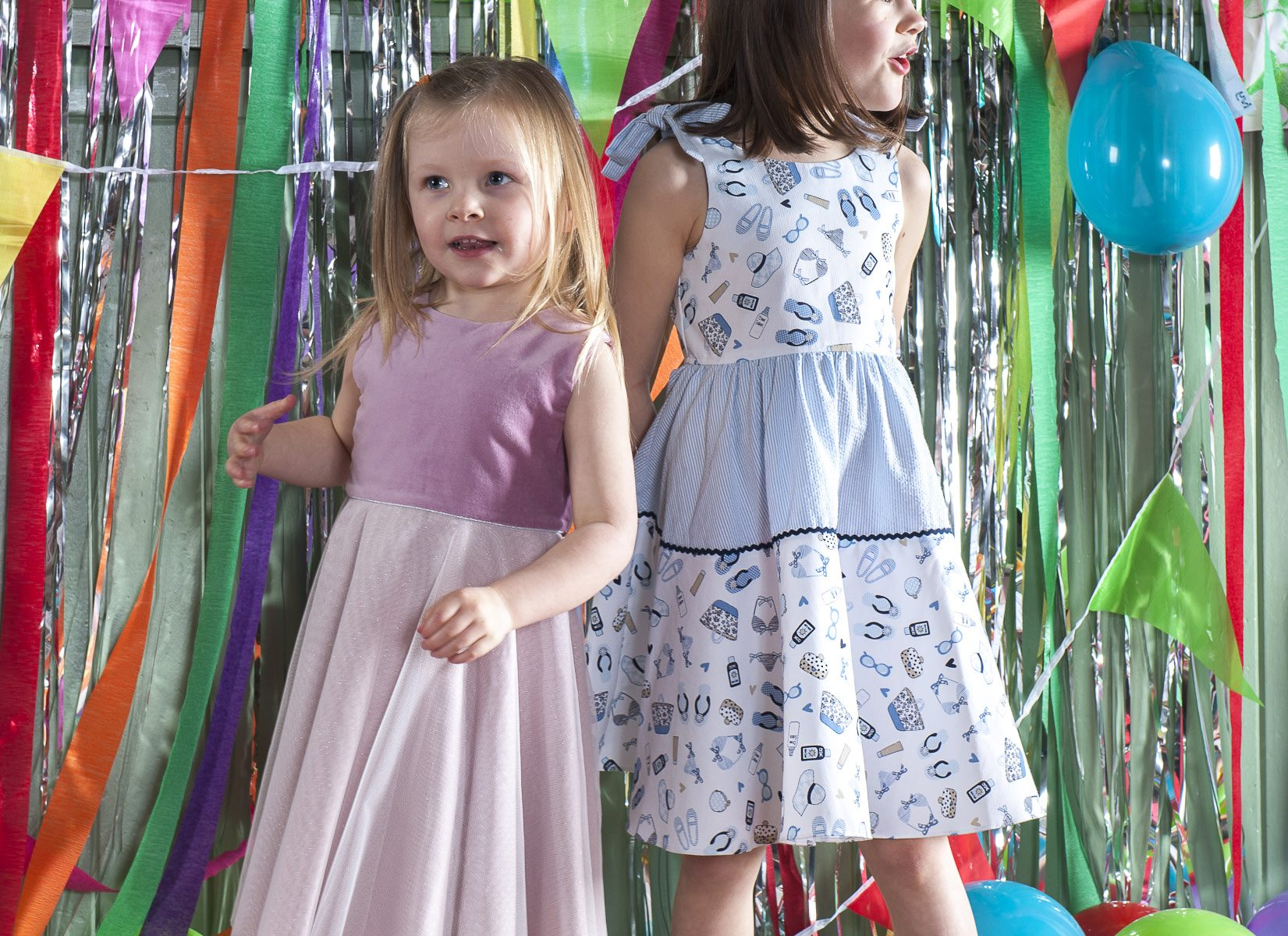 Left: 'Isabelle' dress, £58 Right: 'Amelia' dress, £58, both My Twirl mytwirl.co.uk