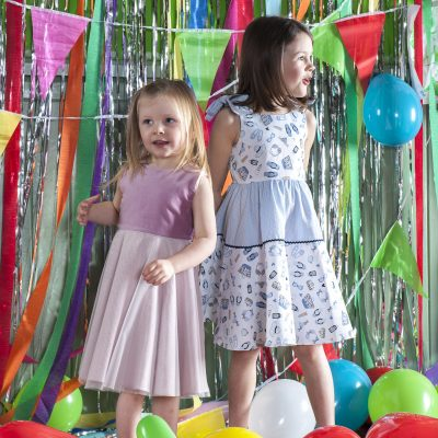Left: 'Isabelle' dress, £58 Right: 'Amelia' dress, £58, both My Twirl mytwirl.co.uk