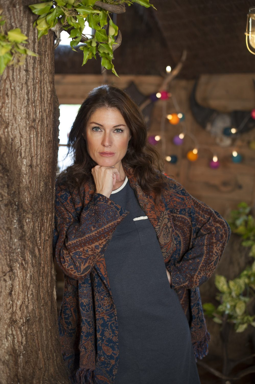Pure wool shawl jacket, £139, Nila Rubia nilarubia.co.uk; jersey pyjama set, £28, Blackspade blackspade.co.uk
