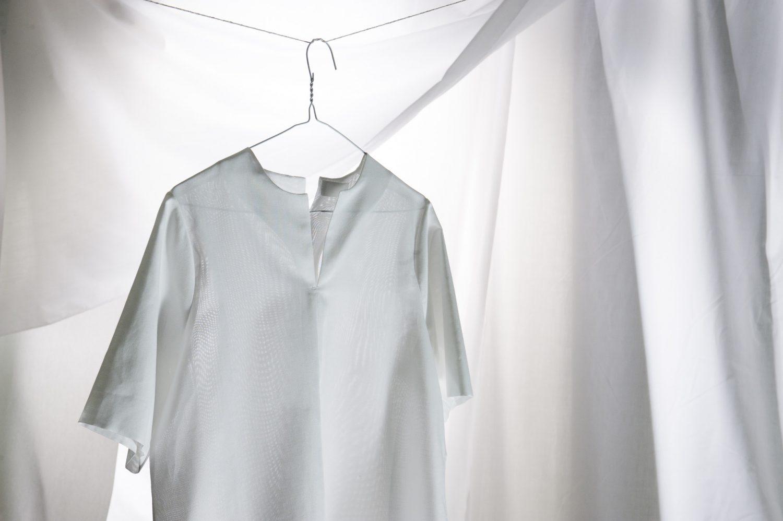 Tunic shirt, £180, Buttoned Kimono shirt, £220, In-grid, Worksop in-grid.coTunic shirt, £180, Buttoned Kimono shirt, £220, In-grid, Worksop in-grid.co