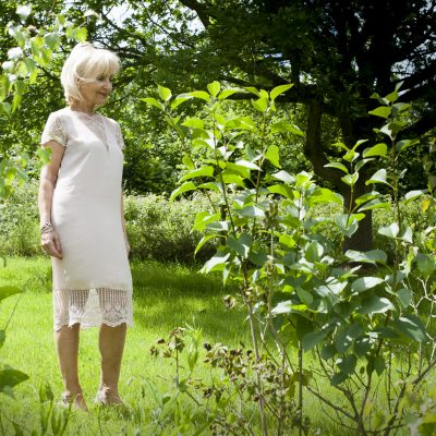 Rosemunde silk dress, £125 Odyl, Cranbrook odyldesign.com; jewellery, model's own