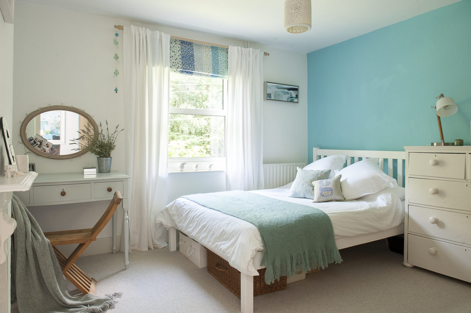 Daughter Gabby has ditched the fucshia pink walls in favour of a soft mint green