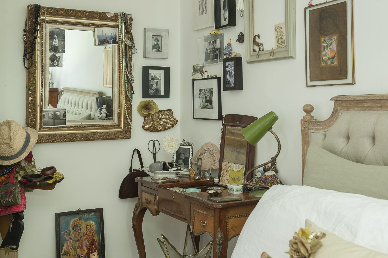The dressing table was from her grandmother and was originally a writing desk