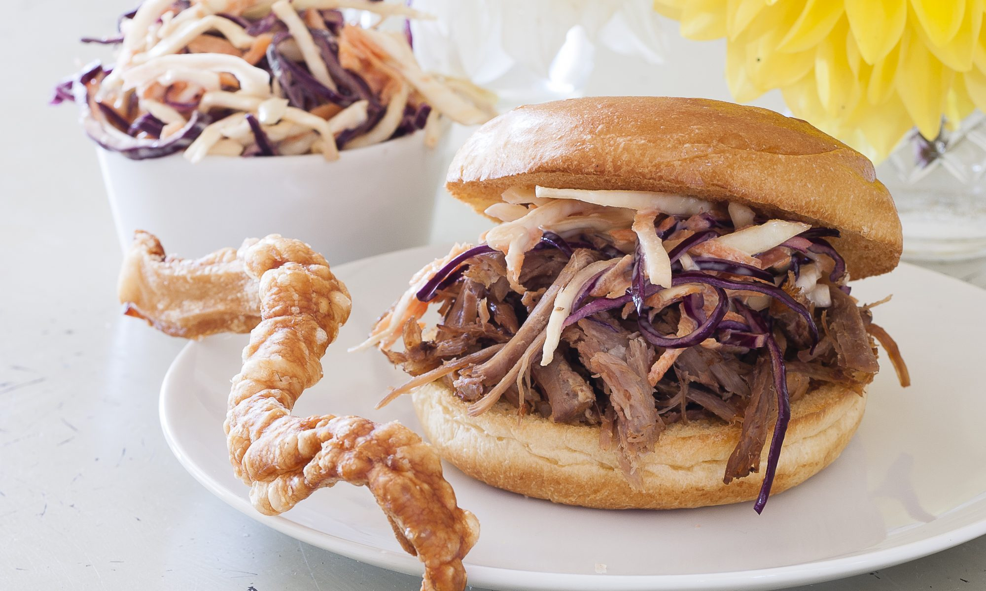 Pulled Pork Roll with Slaw
