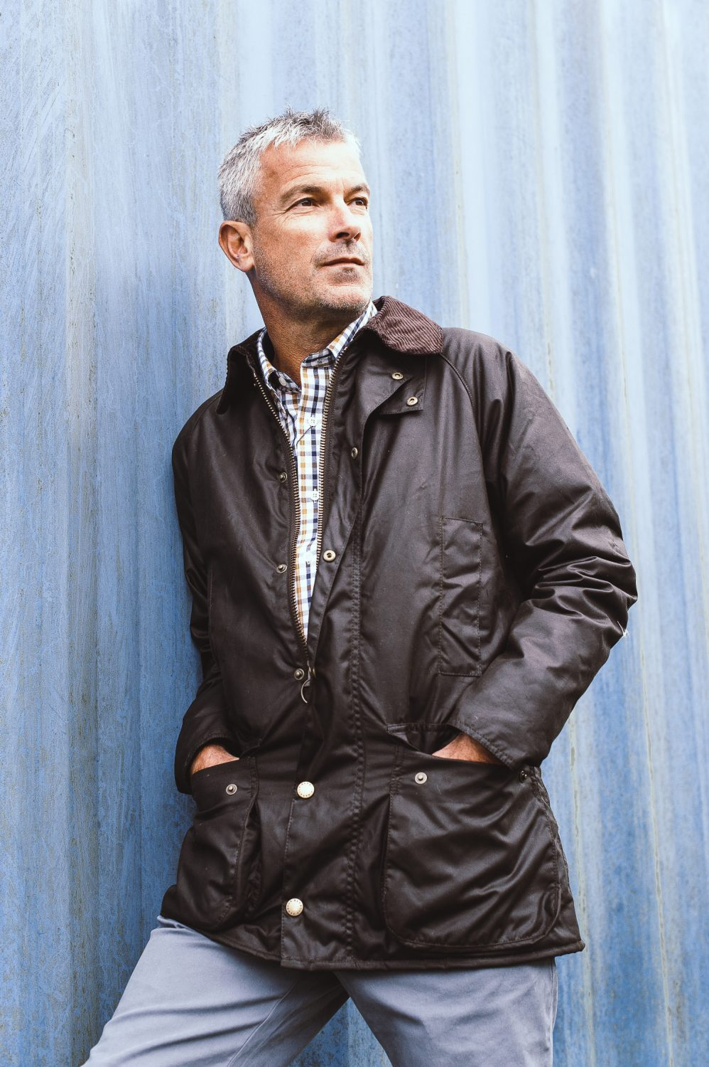 Barbour waxed jacket, £199, Schoffel Brancaster shirt, £69.95, The Golden Boot, Maidstone thegoldenboot.co.uk