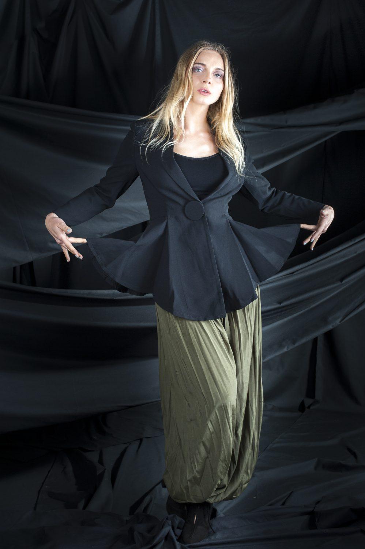 La Saison black jacket, £149, Sweewë parachute pants, £45, Who's Wearing What Boutique, St Leonards whoswearingwhat-boutique.co.uk 01424 272925