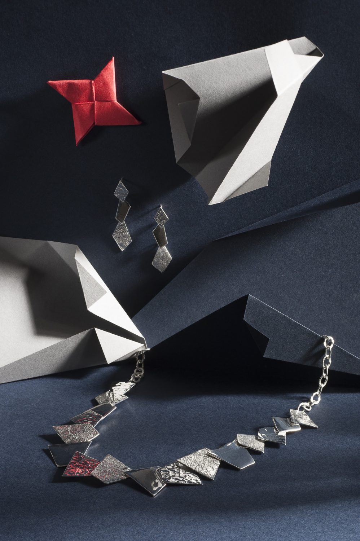 Geo Necklace, £215, Earrings, £50, G Cornell & Sons gcornell.co.uk