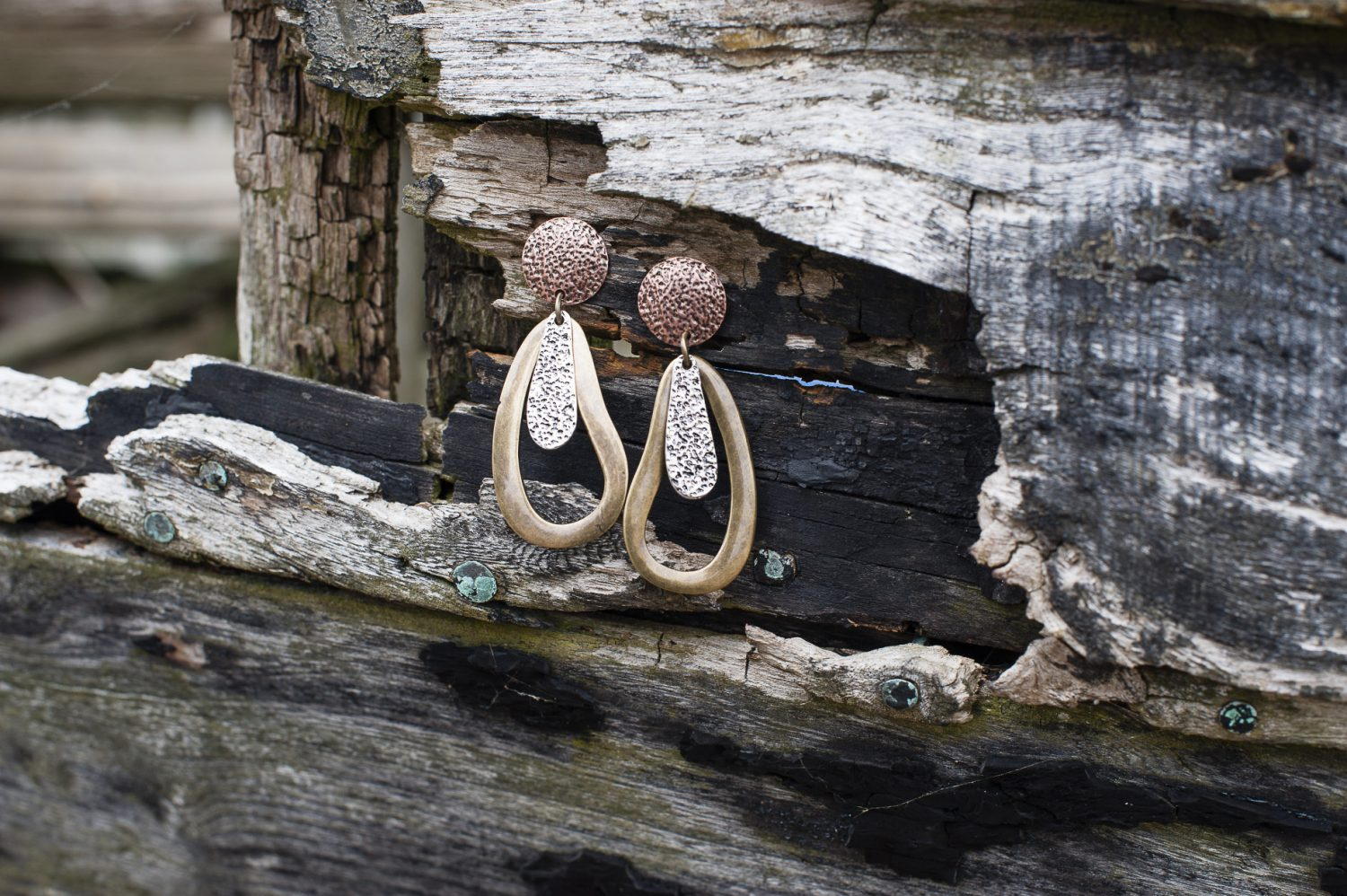 Moon triple metal earrings, £19, Who's Wearing What Boutique, St Leonards whoswearingwhat-boutique.co.uk