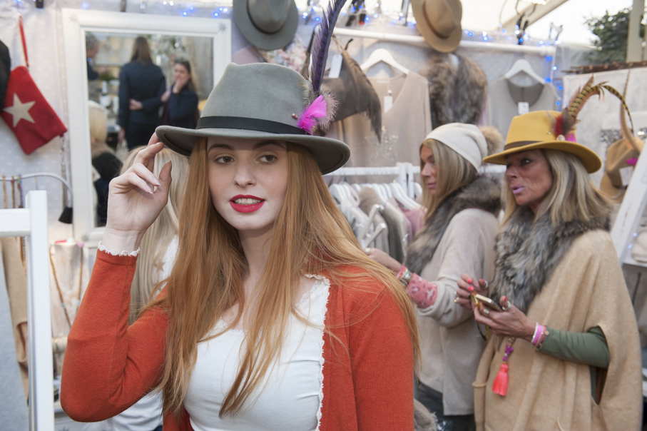 The Fashion Loft Boutique Stand R41 Feather £29, Fedora £49 Thefashionloftboutique.com