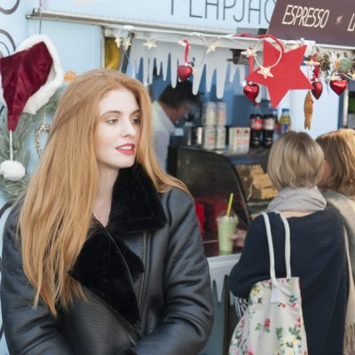 SW19 Stand G09 'Pleather' aviator jacket, £120.00 sw19london.com