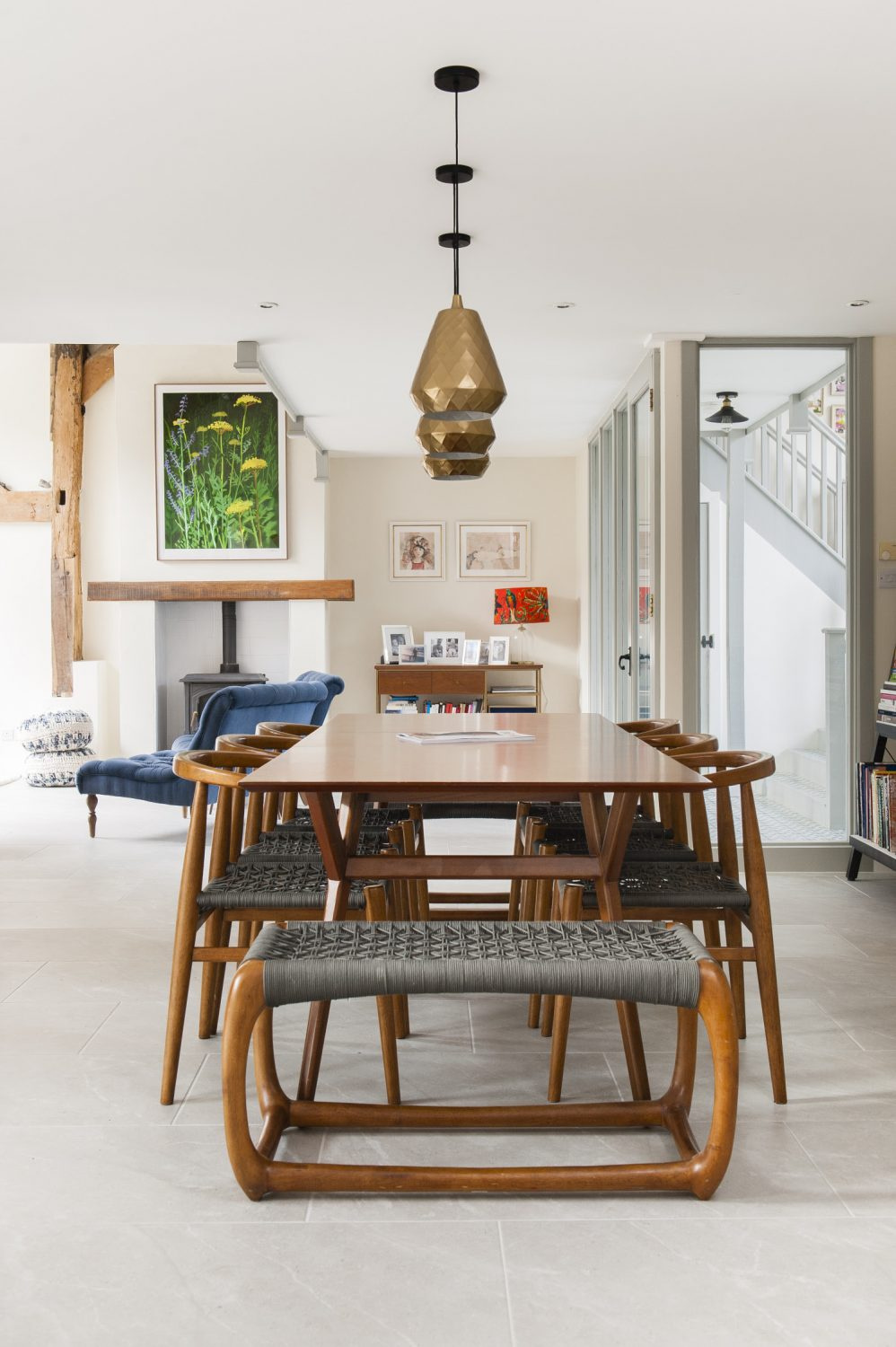 The couple bought the dining table and chairs from West Elm in Dubai.