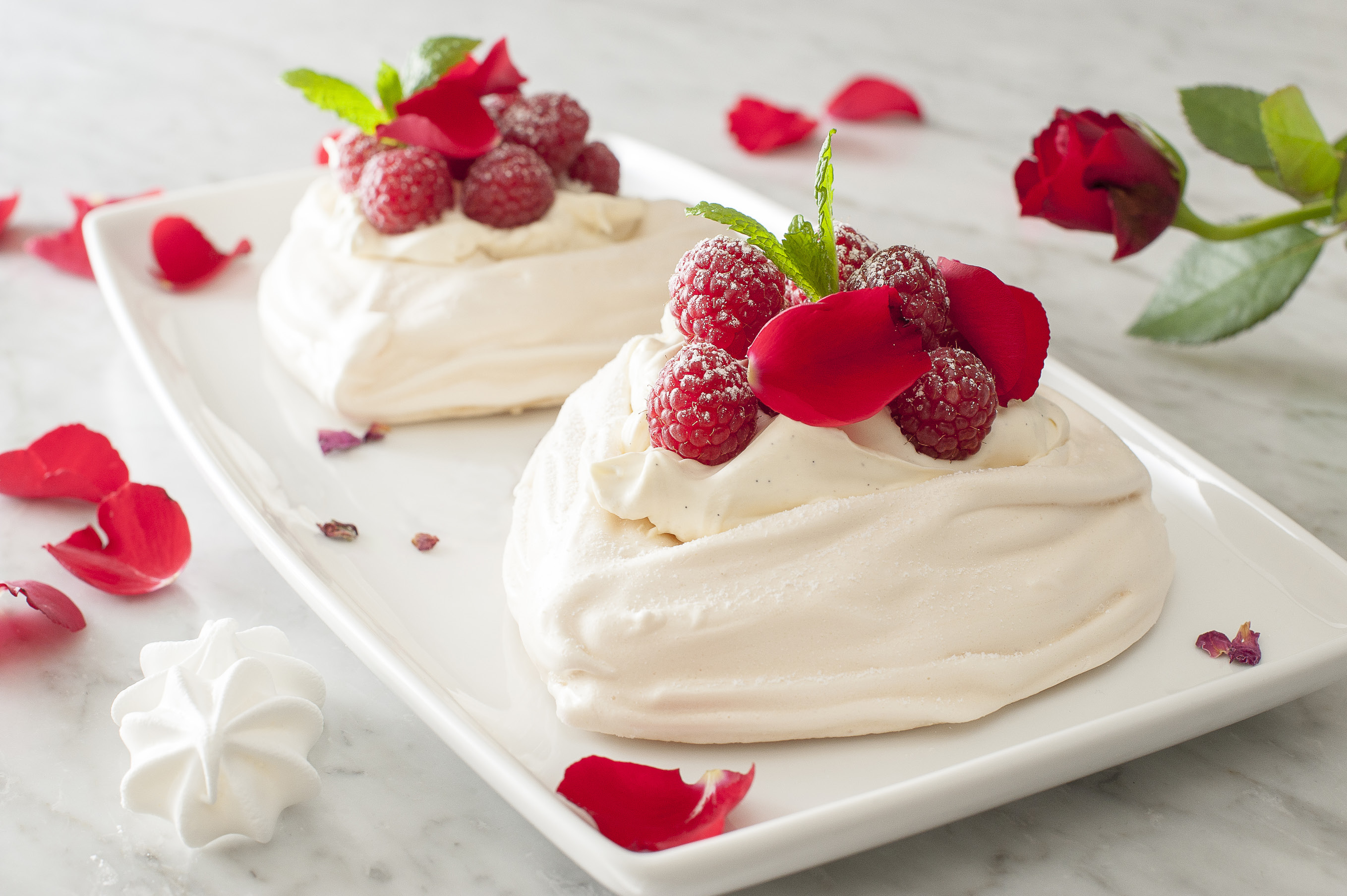 Meringue With Chantilly Cream And Raspberries Priceless Magazines