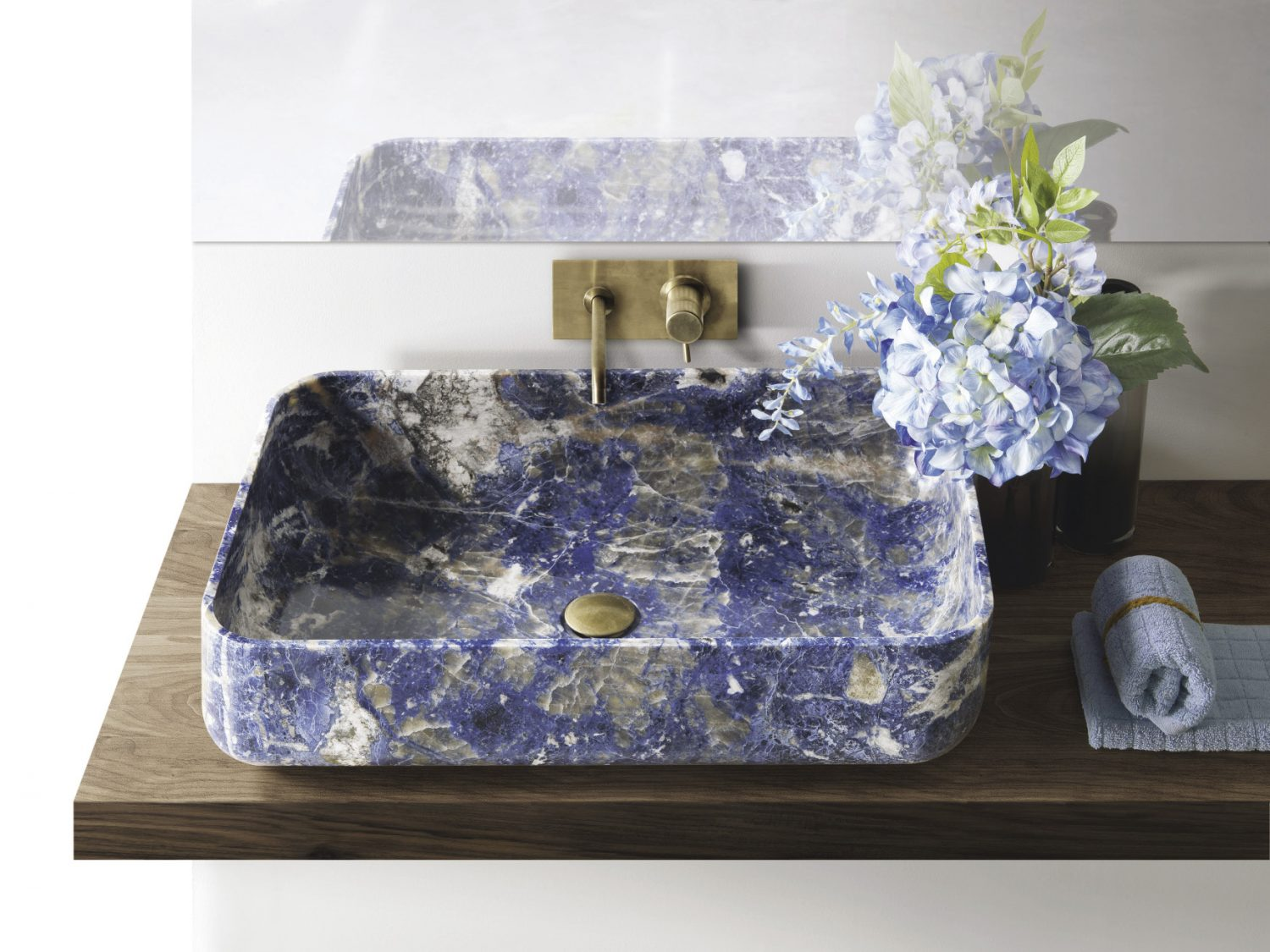 Kreoo Nabhi Bowl 09 Sodalite blue, £12,000, West One Bathrooms, westonebathrooms.com