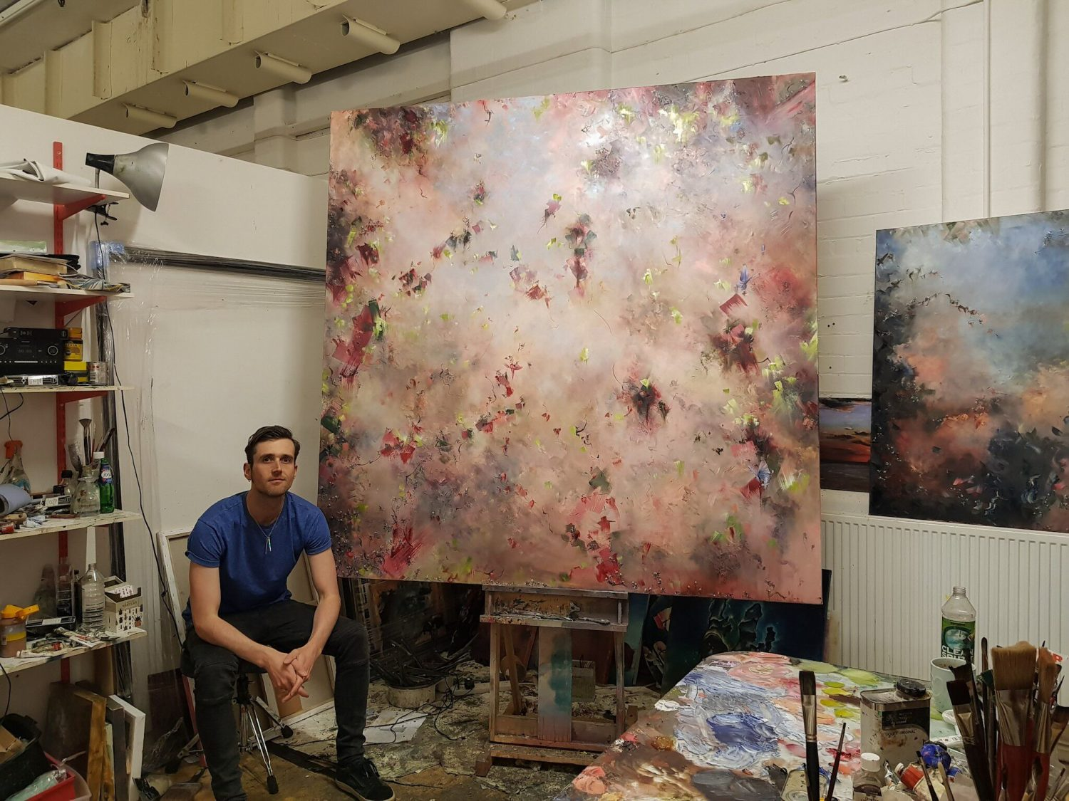 Chris has swapped drums for canvas and stage for studio