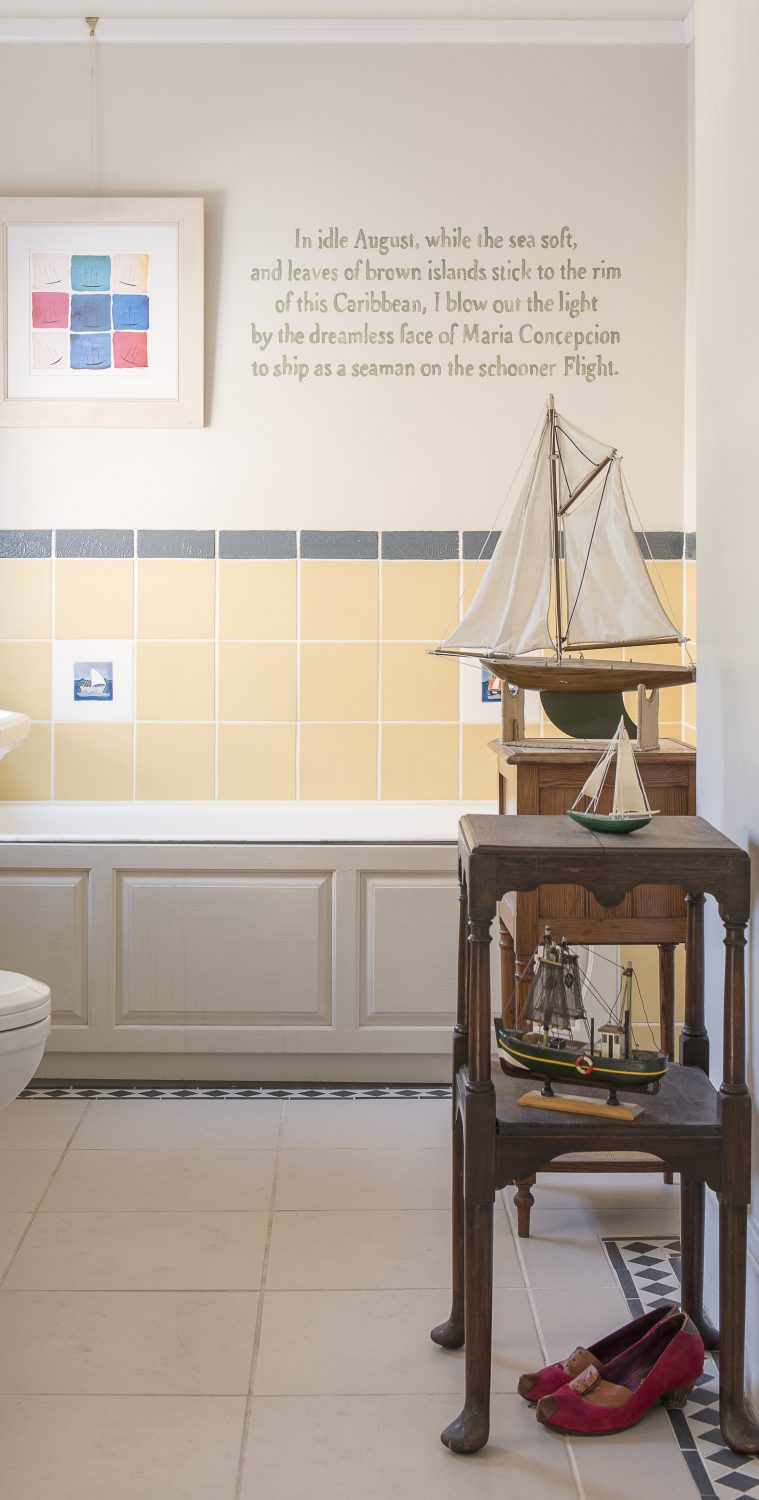 Words by Derek Walcott and a model boat collection in the bathroom are part of the recent production about the Windrush generation